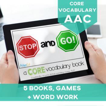 AAC CORE Words BUNDLE Go Stop
