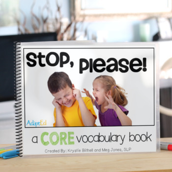 AAC CORE Words Go Stop Set- Books, Games + Word Work