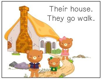 CORE Words AAC Goldilocks and the Three Bears