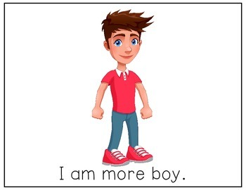 CORE Words AAC More Boy