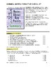 CORNELL NOTES Rubric + Formative Checklist Worksheet Activity (CCSS & editable)