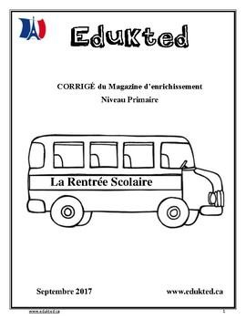 CORRIGÉ magazine d'enrichissement primaire vol 1 (163)