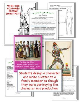 DRAMA LESSON: COSTUME DESIGN STUDY WITH FAIRY TALES DISTANCE LEARNING