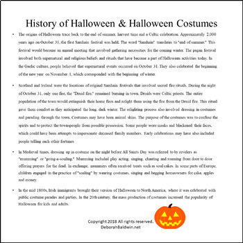 DRAMA LESSON: COSTUME DESIGN WITH HALLOWEEN CHARACTERS