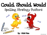 COULD SHOULD WOULD Spelling Strategy Posters