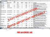 COUNSELING NOTES: Data & Documentation for MacBook Air