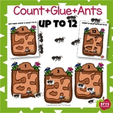 COUNT AND GLUE ANT FARM UP TO 12