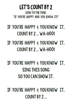 COUNT BY SONGS - SKIP COUNTING BY 2, 3, 4, 5, 6, 7, 8, 9, 10, 11, AND 12!