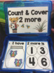 COUNT & COVER 2 more or 2 less ~ Kindergarten Math Center~