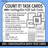 COUNT IT! (Ten Frames) KINDERGARTEN MATH TASK CARDS- Counting and Cardinality