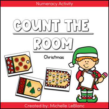Kindergarten Christmas Counting Center {Free}