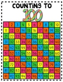 COUNT TO 100 MATH POSTER or STUDENT HELPER! 100 Days of School
