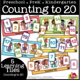#DistanceLearningTpT-COUNT TO 20 COUNTING TILES