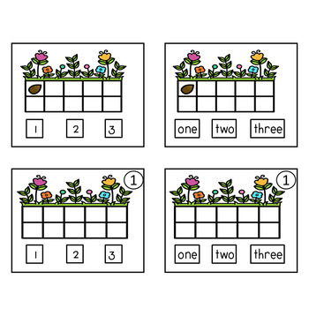 COUNTING 1 TO 10 SPRING TIME ADAPTED BOOK ACTIVITIES