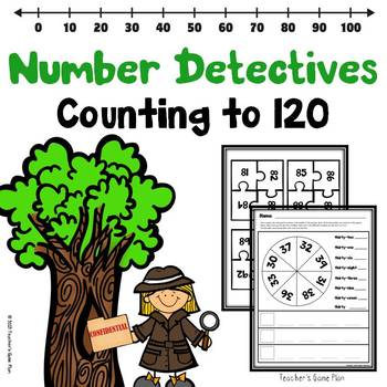 COUNTING 1 TO 120 NUMBER DETECTIVES