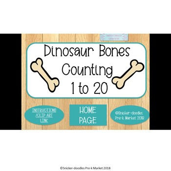 COUNTING 1 TO 20 DINOSAUR BONES