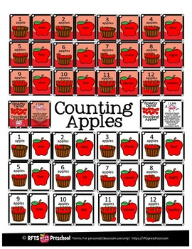 COUNTING APPLES- SMARTY TASK CARDS