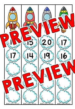 COUNTING ACTIVITIES: ROCKET MATH COUNTING BACK CENTER: COUNTING BACKWARDS CARDS