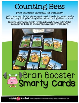 COUNTING BEES- SMARTY TASK CARDS