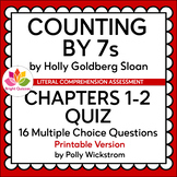 COUNTING BY 7s | CHAPTERS 1-2 | PRINTABLE QUIZ