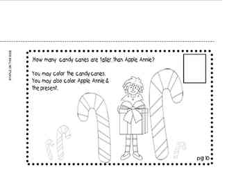 COUNTING CANDY CANES WITH APPLE ANNIE PRINTABLE PLUS ART ACTIVITY