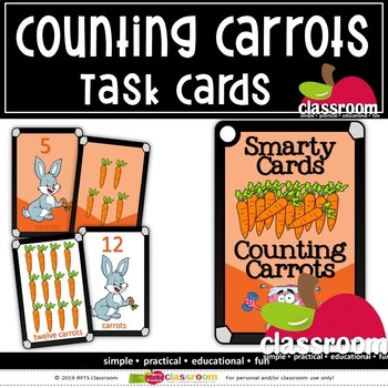 COUNTING CARROTS- SMARTY TASK CARDS
