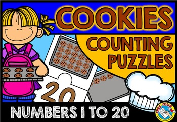 COUNTING CENTER: COOKIES COUNTING PUZZLES: KINDERGARTEN ACTIVITIES