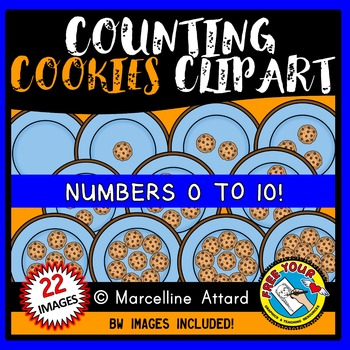 COUNTING CLIPART: COUNTING COOKIES CLIPART: FOOD CLIPART