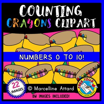 COUNTING CLIPART: COUNTING CRAYONS CLIPART: BACK TO SCHOOL CLIPART