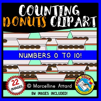 COUNTING CLIPART: COUNTING DONUTS CLIPART: FOOD CLIPART