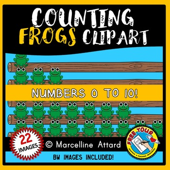 MATH CLIPART: COUNTING CLIPART: COUNTING FROGS CLIPART: FROGS ON A LOG CLIPART