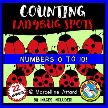 COUNTING CLIPART:  COUNTING LADYBUG SPOTS CLIPART: SPRING CLIPART