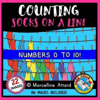 COUNTING CLIPART: COUNTING SOCKS CLIPART: CLOTHES CLIPART