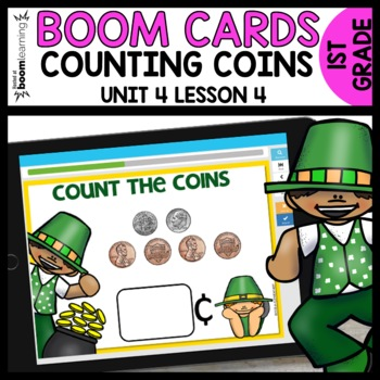 COUNTING COINS UP TO 40 BOOM CARDS | DIGITAL TASK CARDS | Module 4 Lesson 4