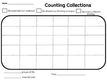 COUNTING COLLECTIONS STUDENT RECORDING SHEETS