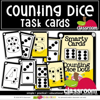 COUNTING DICE- SMARTY TASK CARDS