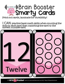 COUNTING DOTS- SMARTY TASK CARDS
