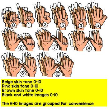 COUNTING FINGERS CLIPART- ENGAGE NEW YORK- EUREKA MATH STYLE