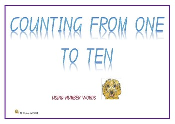 COUNTING FROM ONE TO TEN - using number words