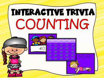 Interactive Trivia Game Counting by 2's, 5's, and 10's.