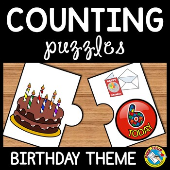 COUNTING PUZZLES: NUMBERS 1-10 (BIRTHDAY THEME)