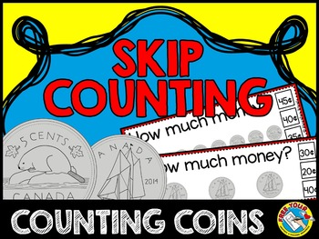 MONEY MATH CENTER (COUNTING MONEY: CANADIAN MONEY SKIP COUNTING CLIP CARDS)