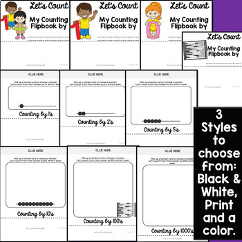 COUNTING NUMBER MATH ACTIVITIES Flipbook (Counting Flip Book)