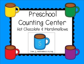 COUNTING & NUMBER CENTER - hot chocolate & marshmallows