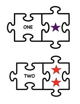 COUNTING NUMBERS 1-20 JIGSAW PREKINDER, KINDER, AUTISM