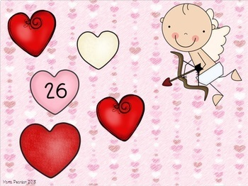 Valentine's Day Counting On Task Cards
