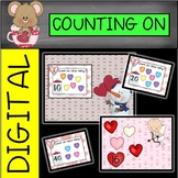 DIGITAL and PAPER Valentine's Day Counting On Task Cards/Write the Room