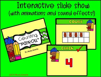"""COUNTING """"PATROLL"""" {Color by Counting to 10 and Interactive Slide Show}"""