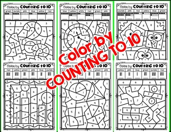 """COUNTING """"PATROLL"""" {Color by Counting to 10}"""
