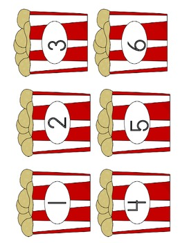 COUNTING PEANUTS FILE FOLDER GAME